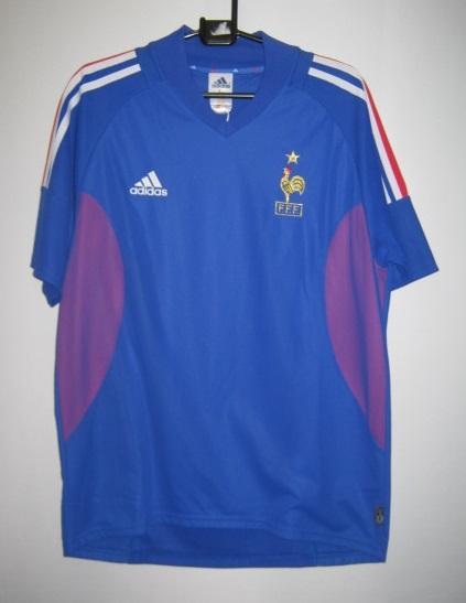 アディダス 298742-69222 フランス 2002-03 ホーム レプリカ ホーム ゲームシャツ 半袖