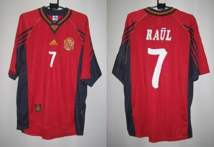 アディダス スペイン 1998-99 ホーム ラウル 7番付 レプリカ ホーム ゲームシャツ 半袖