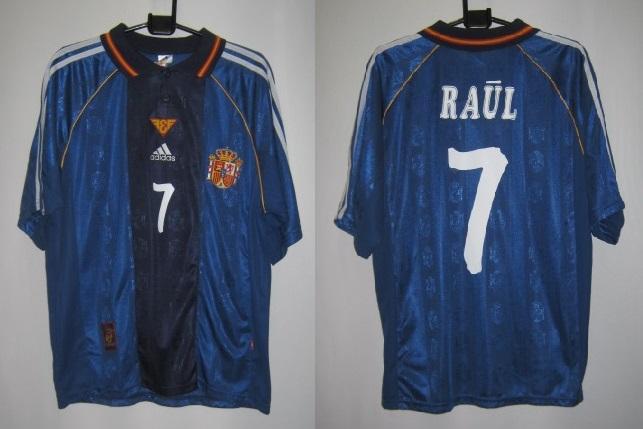 アディダス 604895 スペイン 1998-99 アウェイ ラウル 7番付 レプリカ ホーム ゲームシャツ 半袖