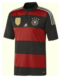 アディダス adidas-IPX18-M35024 2015 ドイツ代表 4スター アウェイ レプリカ ホーム ゲームシャツ 半袖
