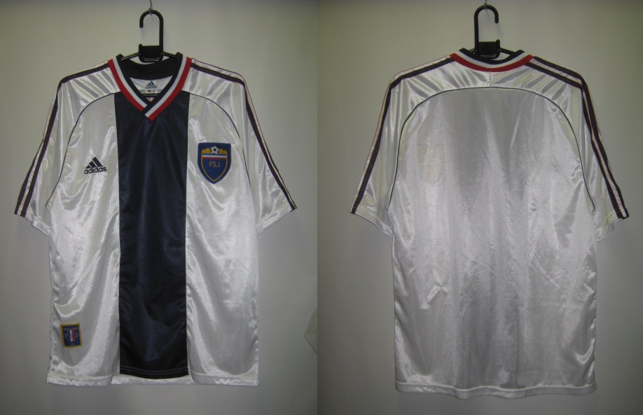 アディダス 610060 ユーゴスラビア 1998-99 アウェイ レプリカ ホーム ゲームシャツ 半袖