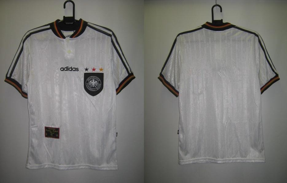 アディダス adidas-097873 1996-97 ドイツ ホーム レプリカ ゲーム シャツ 半袖