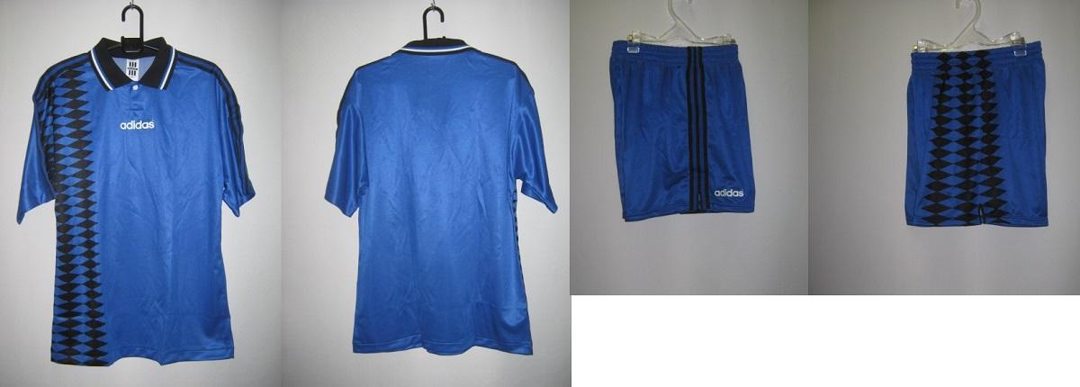 アディダス 1994-95 aq6702-6702p アルゼンチン アウェイ エンブレム なし モデル 半袖 ゲーム シャツ・パンツ 上下