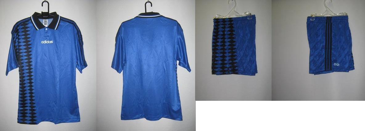 アディダス 1994-95 aq6702-weq2211 アルゼンチン アウェイ エンブレム なし モデル 半袖 ゲーム シャツ・パンツ 上下