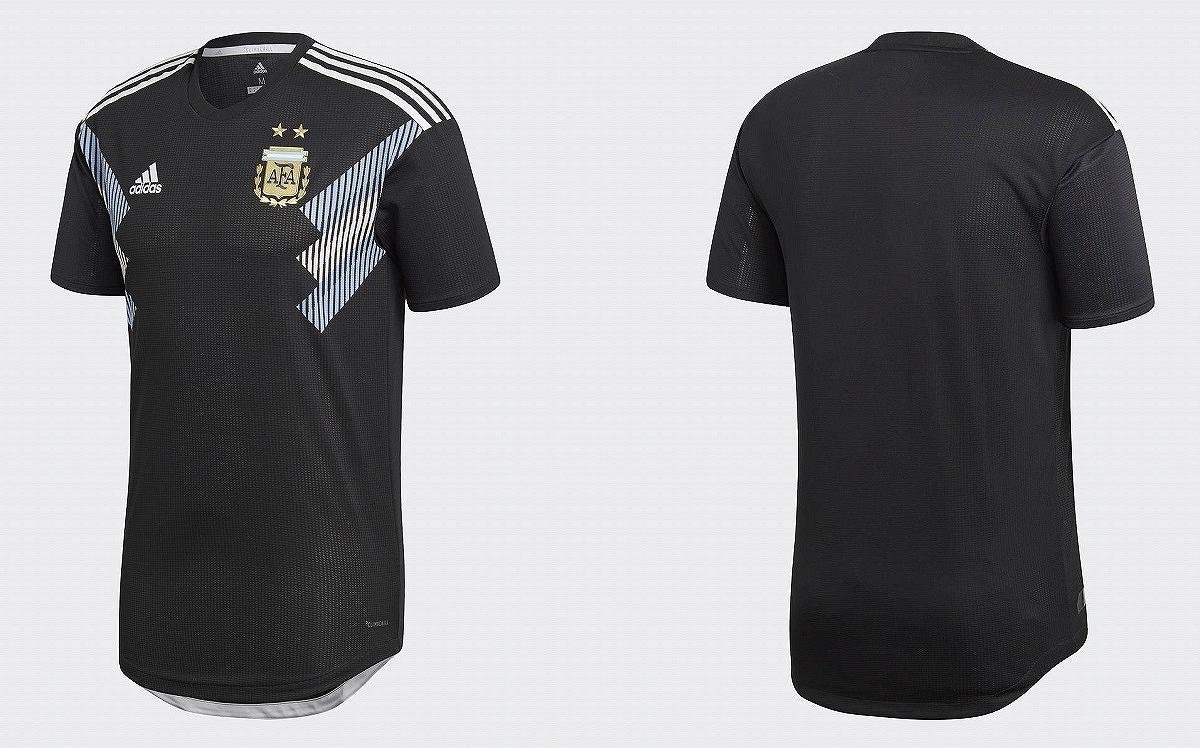 アディダス 2018-19 BQ9360 DTR11 アルゼンチン 代表 アウェイ オーセンティック ユニフォーム 半袖 ゲーム シャツ