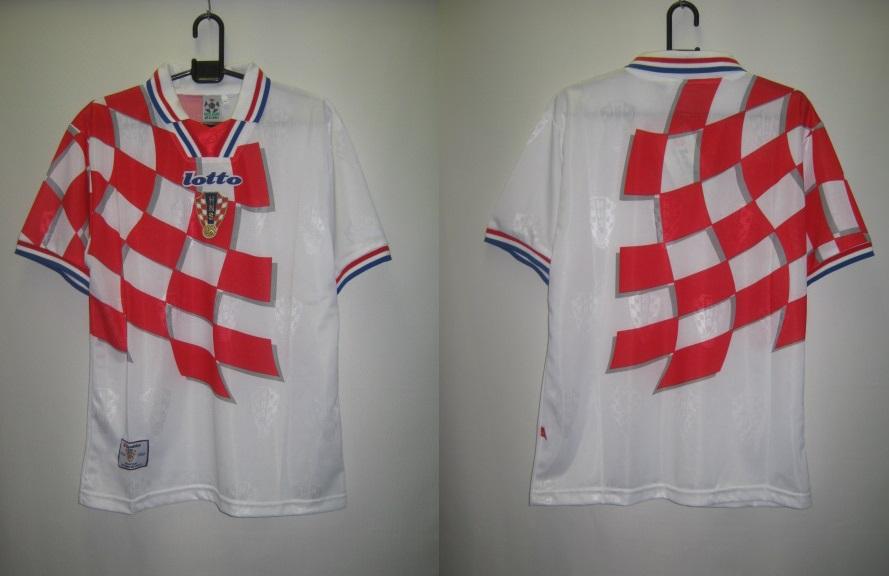 ロット 1998-99 LS298544 クロアチア ホーム レプリカ ゲーム シャツ 半袖