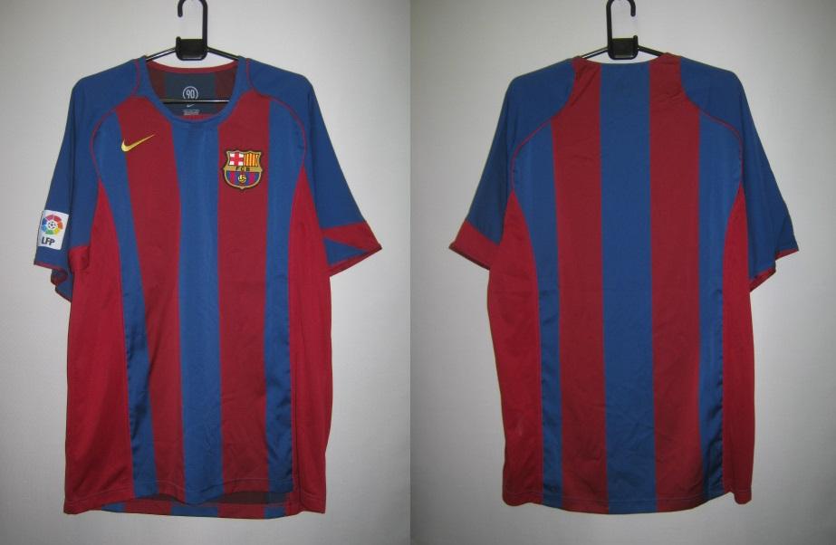 ナイキ 2004-05 nike-118861-425 バルセロナ ホーム レプリカ ゲームシャツ 半袖