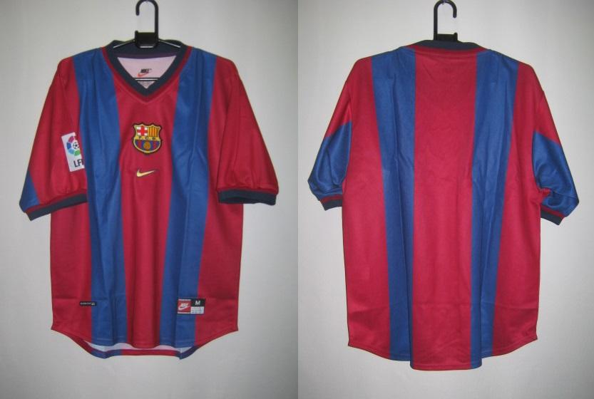 ナイキ 1998-00 nike-154889-655 バルセロナ ホーム レプリカ ゲームシャツ 半袖