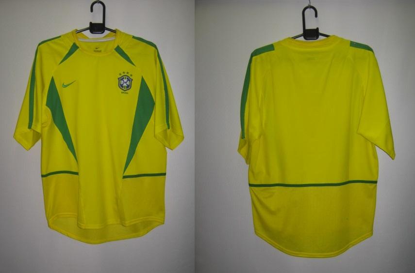 ナイキ nike-182264-729 2002-03 ブラジル ホーム 4つ星 オーセンティック ゲーム シャツ 半袖