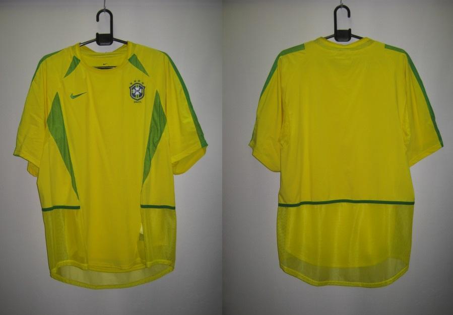 ナイキ nike-182265-729 2002-03 ブラジル ホーム 4つ星 レプリカ ゲーム シャツ 半袖
