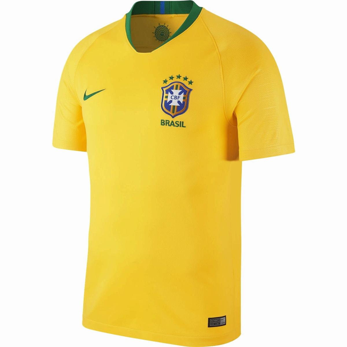 ナイキ 2018-19 NIKE-893856-749 CBF ブラジル BRT ゲーム ホーム シャツ 半袖