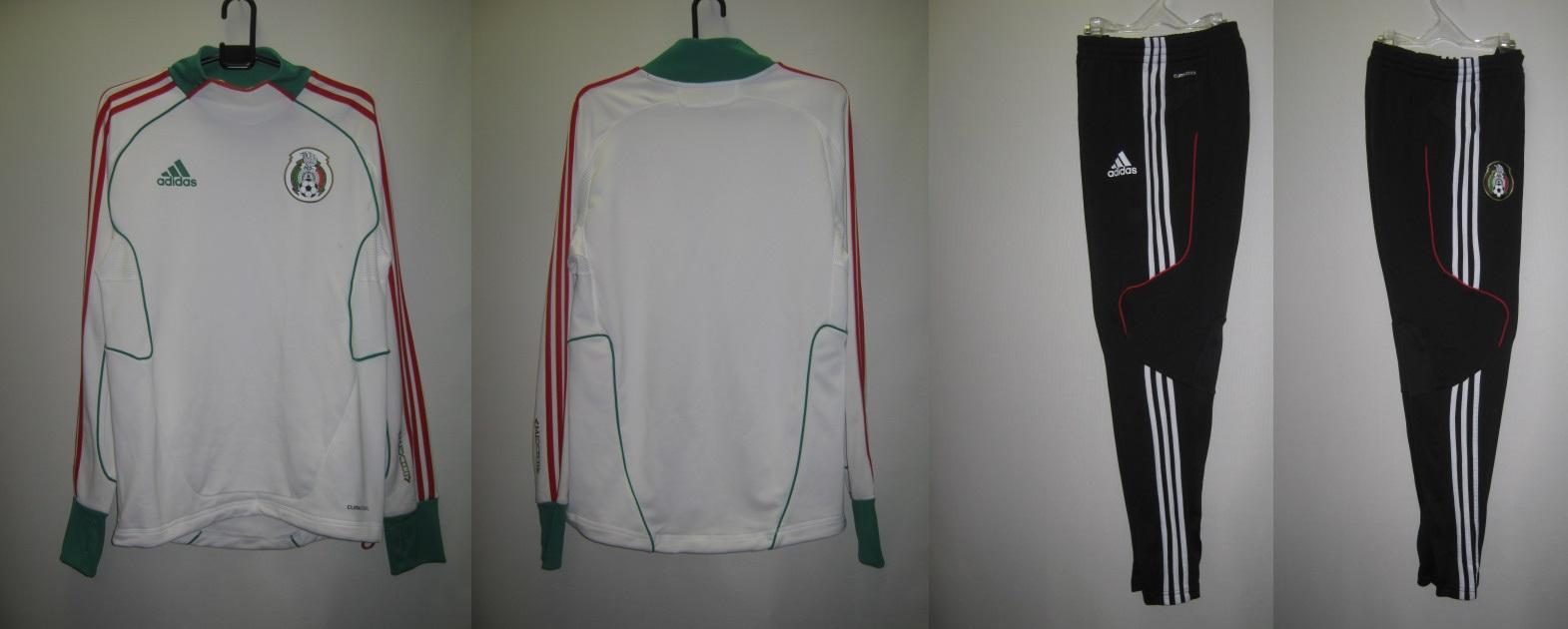 アディダス 2011-12 rj854-rj853 メキシコ 代表 プレデター トレーニング トップ・パンツ 上下 セット