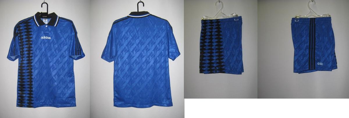 アディダス 1994-95 weq1201--weq2211 アルゼンチン アウェイ エンブレム なし モデル 半袖 ゲーム シャツ・パンツ 上下