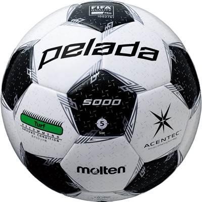 F5L5000-6 ボール アセンテック サッカー ホワイト×メタリックブラック 6球セット モルテン ペレーダ5000芝用 F5L5000 5号球