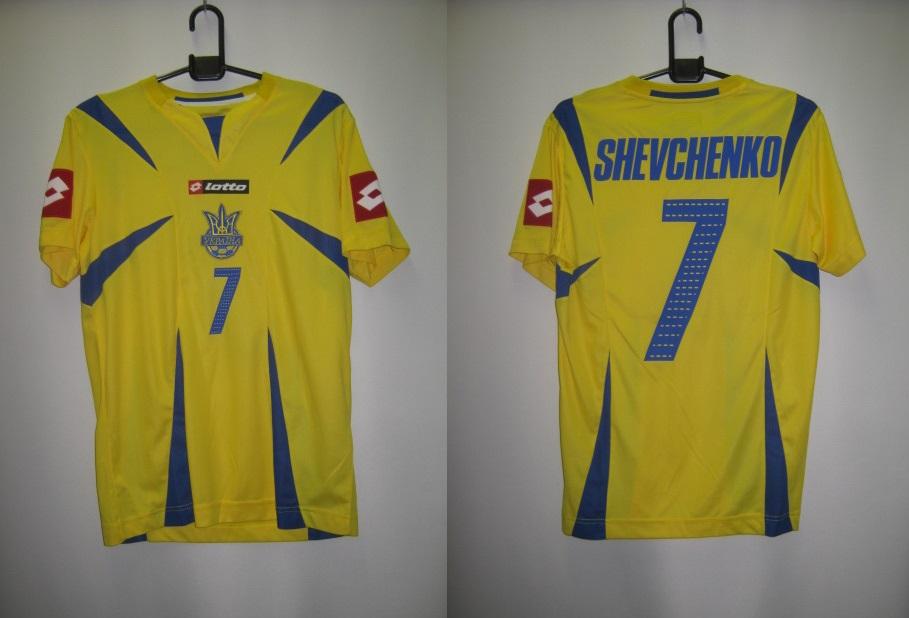 ロット 2006-07 lotto-lsi3413s 7番 シェフチェンコ ネーム・ナンバー付 ウクライナ ホーム レプリカシャツ