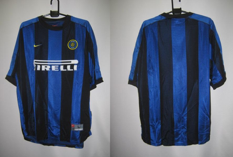 ナイキ nike-192120-463 1999-2000 インテル ホーム  レプリカ ゲームシャツ 半袖