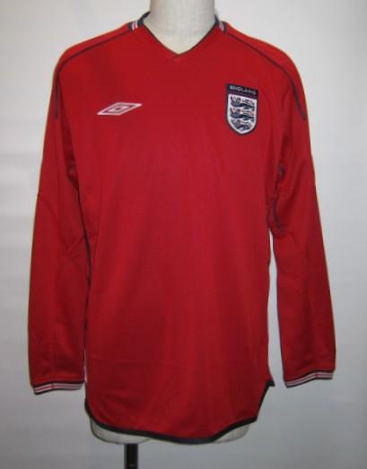 アンブロ 2002-03 イングランド アウェイ 長袖 レプリカ ゲームシャツ