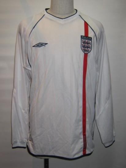アンブロ 2001-02 イングランド ホーム 長袖 レプリカ ゲームシャツ
