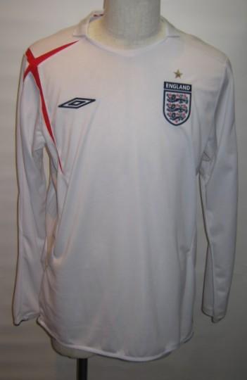 アンブロ 2005-06 UDS6510HL イングランド ホーム 長袖 レプリカ ゲーム シャツ