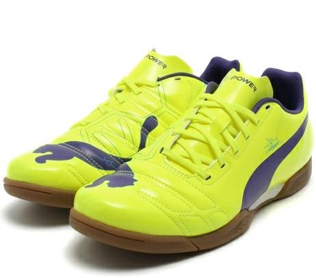 473efc3ee0c8 PUMA evopower 4 IT flows yellow/p violet and non Athletic Hall football  training shoes