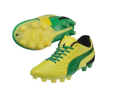プーマ パラメヒコライト 15トリックスHG JP フローイエロー/フローグリーン 左右非対称 左足黄色 右足緑色 カンガルーレザー