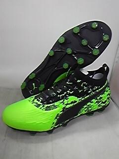 プーマ ワン 19.1 HG Green Gecko-Black-Gray サッカー スパイク シューズ カンガルーレザー ONE