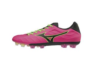 ミズノ レビュラ V1 ピンク×ブラック×ライトグリーン サッカー スパイク シューズ カンガルーレザー 革新で挑む。カンガルーの柔らかさを求めるトップレベルの選手に。