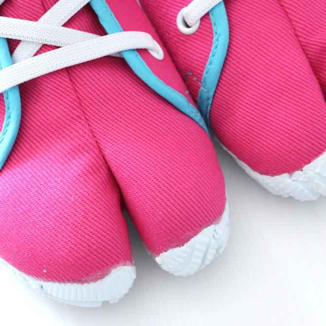 Whenever <> Marugo magic tape work tabi nintabi is not similar; kids (for the child) pink (pink) 16.0cm - 20.0cm [festival tabi work tabi child Festival clothes Festival article たび TABI NINJA SHOES ジカタビ ninja shoes festival article]