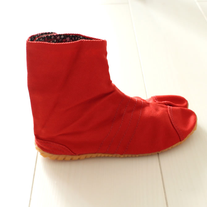 <> correspondence Marugo magic tape work tabi assaboots Megumi company kids (for the child) red (red) 13.0cm - 22.0cm [festival tabi work tabi child Festival clothes たび TABI NINJA SHOES JIKATABI ninja shoes festival article]