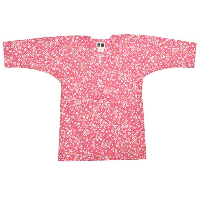 鯉口シャツ>小粋・祭組 鯉口シャツ>鯉口シャツ 小桜(3色)>小桜(こざくら) ピンク