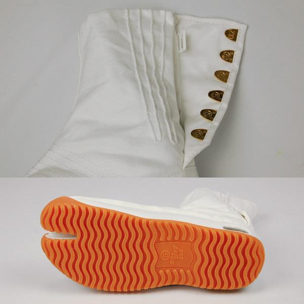 [NINJA SHOES] Marugo AIRJOG JIKATABI 6 Clasps -WHITE- Air Cushion Insoles 22.5cm - 28.0cm