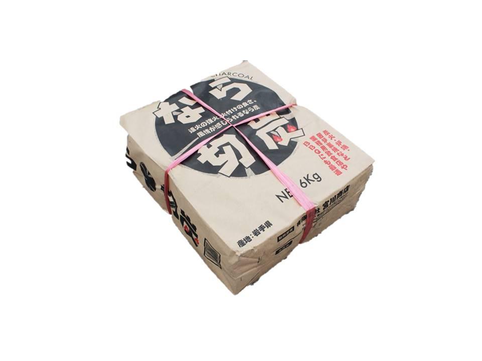 【送料無料・お届先法人・店舗専用商品】業務用 国産 岩手ナラ切炭 5袋(30kg)岩手産 【あす楽対応】