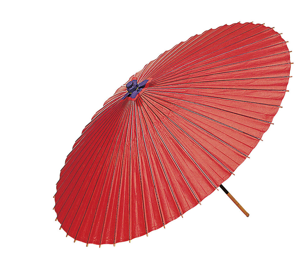 【送料無料】無地蛇の目傘 赤(美濃和傘)