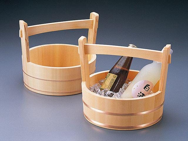【送料無料】岡持型冷酒クーラー 銅タガ