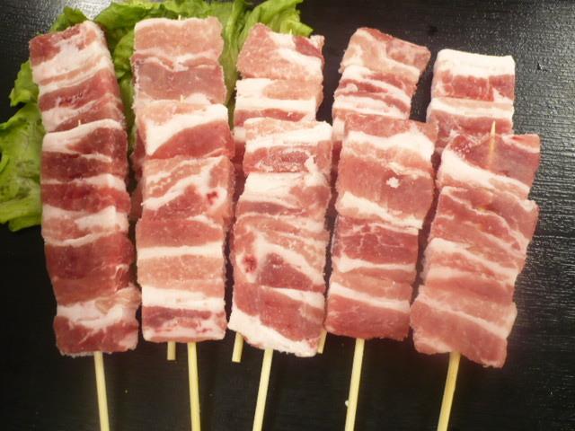 品質検査済 豚バラ串 30g×20本 格安 ぶた ブタ 好評受付中 豚 肉 串揚げ BBQ 豚ばらら肉 焼き鳥 バラ肉 豚肉 バーベキュー