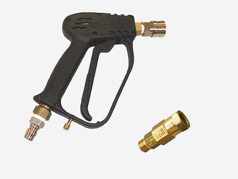 高圧洗浄機用 トリガ式スイベル付洗浄ガン (カプラ付) 3P-PF25S-3S(耐圧25MPa)