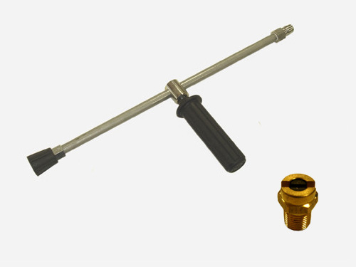 フルテック・精和・ワグナー洗浄機用 扇型ノズル(15°)&ランスLC-15セット 扇形ノズル