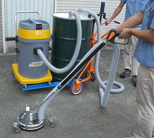 バキューム式高圧洗浄装置【VSC300D】ドラム缶クリーンジェットセット(床・壁用)