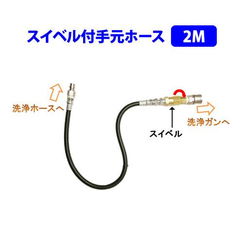 洗浄機用スイベル付手元ホース 2M フルテック・精和(セイワ)・ワグナー洗浄機用