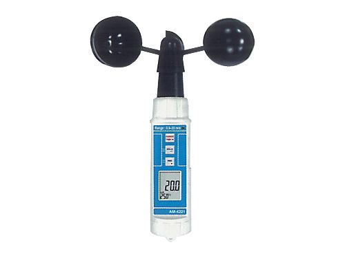 デジタル風速温度計 (風杯型) 【AM-4221】