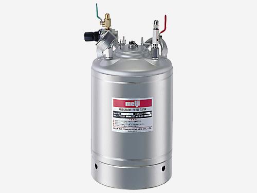 明治 加圧タンク(塗料圧送タンク・液圧送タンク) 【P-10SC】 オールステンレス