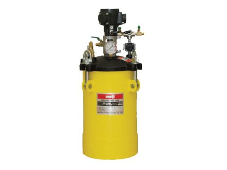 明治 加圧タンク(塗料圧送タンク・液圧送タンク) 【PA-10B】 (自動かくはん装置付)