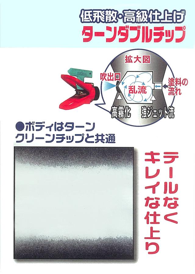 エアレス塗装機用 精和産業 エアレスガン TPG-1(トップガン)&ターンダブルチップ+ボディ セット