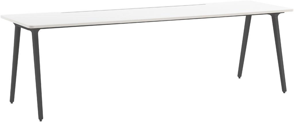 ウチダ フリーアドレスデスク 片面タイプ 5-205-14 【幅2000×奥行600×高さ720mm】【脚・本体:3色】【天板:4色】
