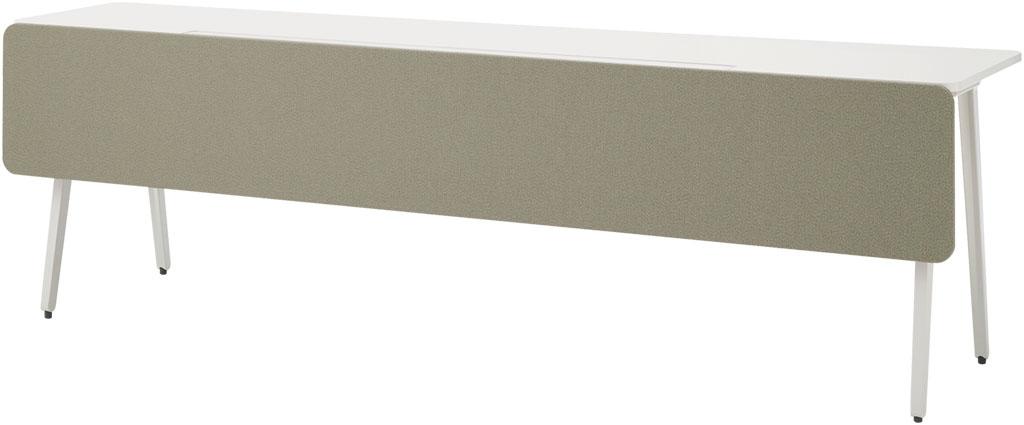 ウチダ フロント用幕板 5-204-261 【片面デスク用】【幅1400×高さ370mm】【クロスカラー:4色】