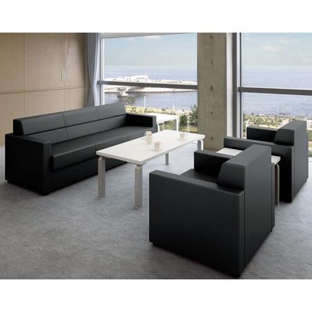 ナイキ 応接セット ZRE152型 チェアー・テーブルセット ZRE152_set 【チェアー: ビニールレザー張り・2色】【テーブル: 3色】