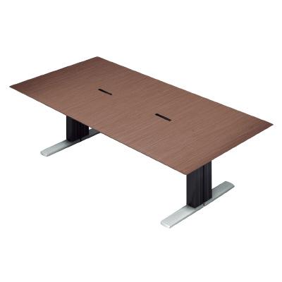 プラス 会議テーブル XF EXECUTIVE (エクセフ エグゼクティブ) XL-2412KZ WN ウォールナット突板タイプ 【幅2400mmmm×奥行1200mm×高さ720mm】