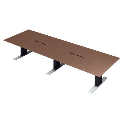 PLUS (プラス) 会議テーブル XF EXECUTIVE (エクセフ エグゼクティブ) XL-3612KZ WN ウォールナット突板タイプ 【幅3600mm×奥行1200mm×高さ720mm】