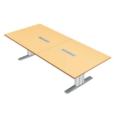 プラス 会議テーブル XF TYPE L (エクセフ タイプエル) XL-2812KG WM/W4 【ミーティングテーブル】【天板カラー:ホワイトメープル、脚カラー:ホワイト】【幅2800mm×奥行1200mm×高さ720mm】