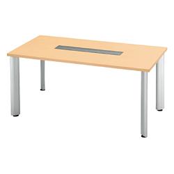 PLUS (プラス) 会議テーブル 長方形タイプ HL-150PR 【幅1500mm×奥行750mm×高さ700mm】【天板カラー: ホワイトメープル】